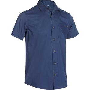 Trekkinghemd kurzarm Travel 50 Herren blau