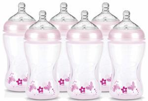 Nuby Weithalsflaschen-Set pink