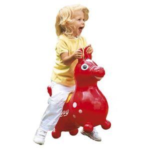 GYMNIC   Sitz- und Hüpfpferdchen Rody rot