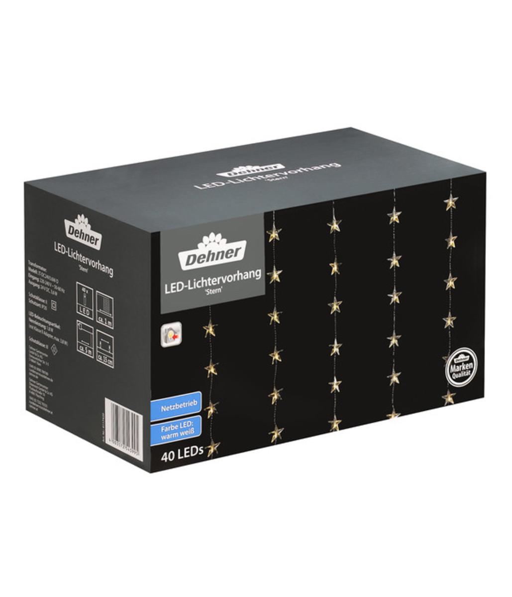 Bild 1 von Dehner LED-Lichtervorhang Stern, 40 Lichter
