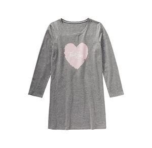 Damen-Nachthemd mit Herz-Frontaufdruck