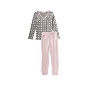 Damen-Schlafanzug mit Herz-Muster, 2-teilig