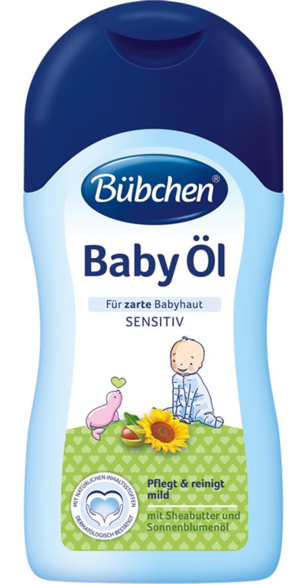 Bübchen Baby Öl mit Sonnenblumenöl und Sheabutter 400 ml