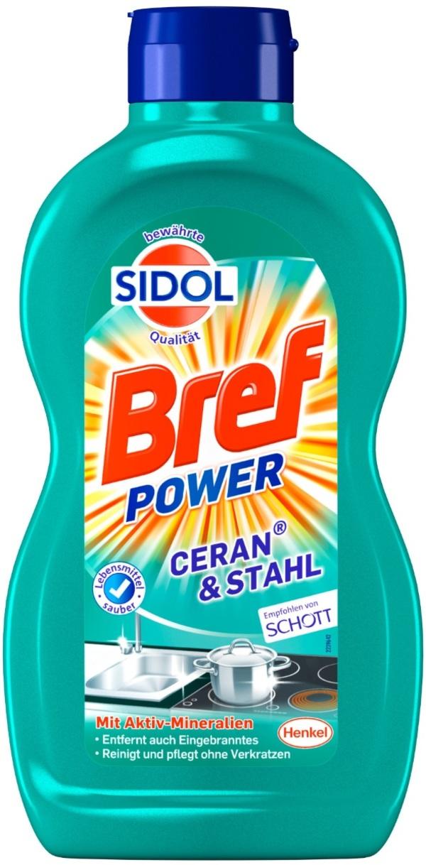 Sidol Bref Power Ceran & Stahl Reiniger 500 ml