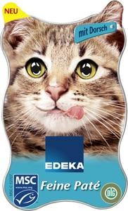 EDEKA Feiner Paté mit Kabeljau Nassfutter für Katzen 85 g