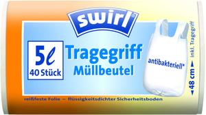Swirl Tragegriff-Müllbeutel 5l 40 Stk