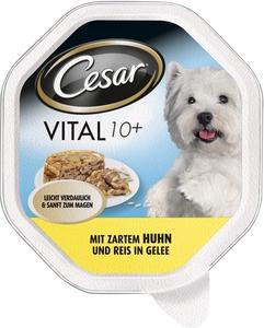 Cesar Vital 10+ mit Huhn und Reis in Gelee Hundefutter nass 150 g