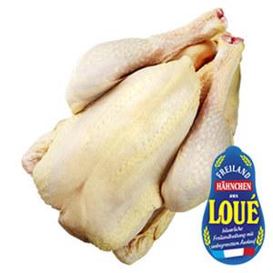 Loue Frischer Französischer Maiskapaun Freiland,  je 1 kg