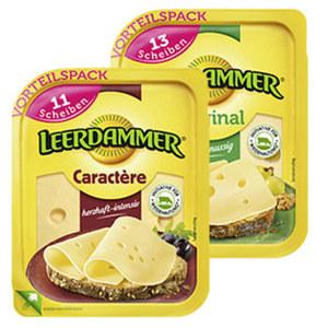 Leerdammer Original oder Caractère Holländischer Schnittkäse, 45 % Fett i. Tr./17 % Fett absolut und weitere Sorten, jede 260/225-g-Packung