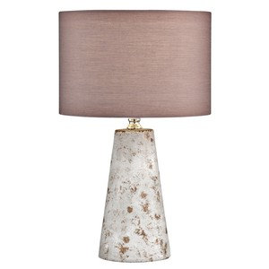 Tischlampe, Zementfuß, 24 x 38,5 x 24 cm, rosè