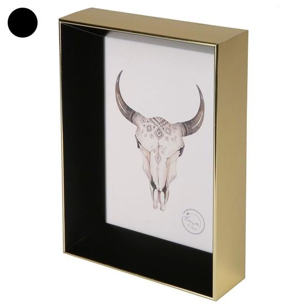 Bilderrahmen, 3D-Optik, 12 x 17 x 4,0 cm, gold