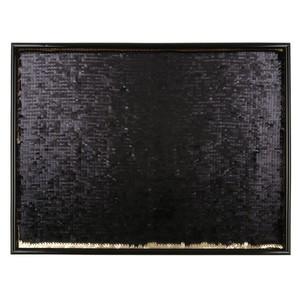 Wandbild, Wendepailletten, 40 x 30 x 1,6 cm, schwarz/gold