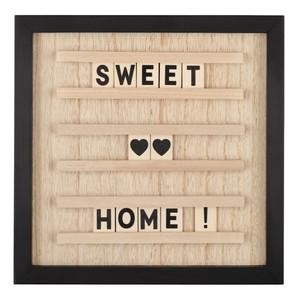 Letterboard, Holz, 65 Zeichen, 30 x 30 x 1,5 cm