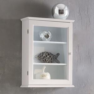 Hängeschrank, Glastür, 30 x 40 x 12 cm, weiß