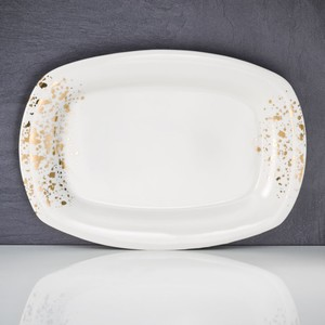 Servierplatte, New Bone China, 34 x 3 x 24,5 cm