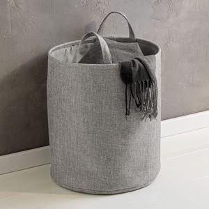Wäschekorb, Leinen, grau, verschiedene Größen