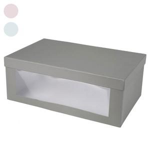 Schuhbox, Pappe, Sichtfenster, verschiedene Farben