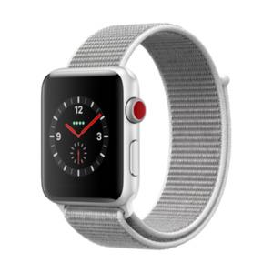 Apple Watch Series 3 LTE 42mm Aluminiumgehäuse Silber mit Sport Loop Muschel