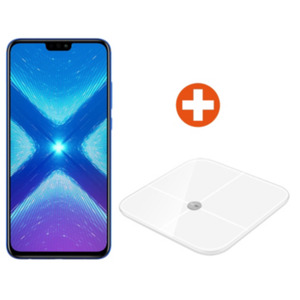 Honor 8X blue Android 8.1 Smartphone + Honor Smart Scale AH-100
