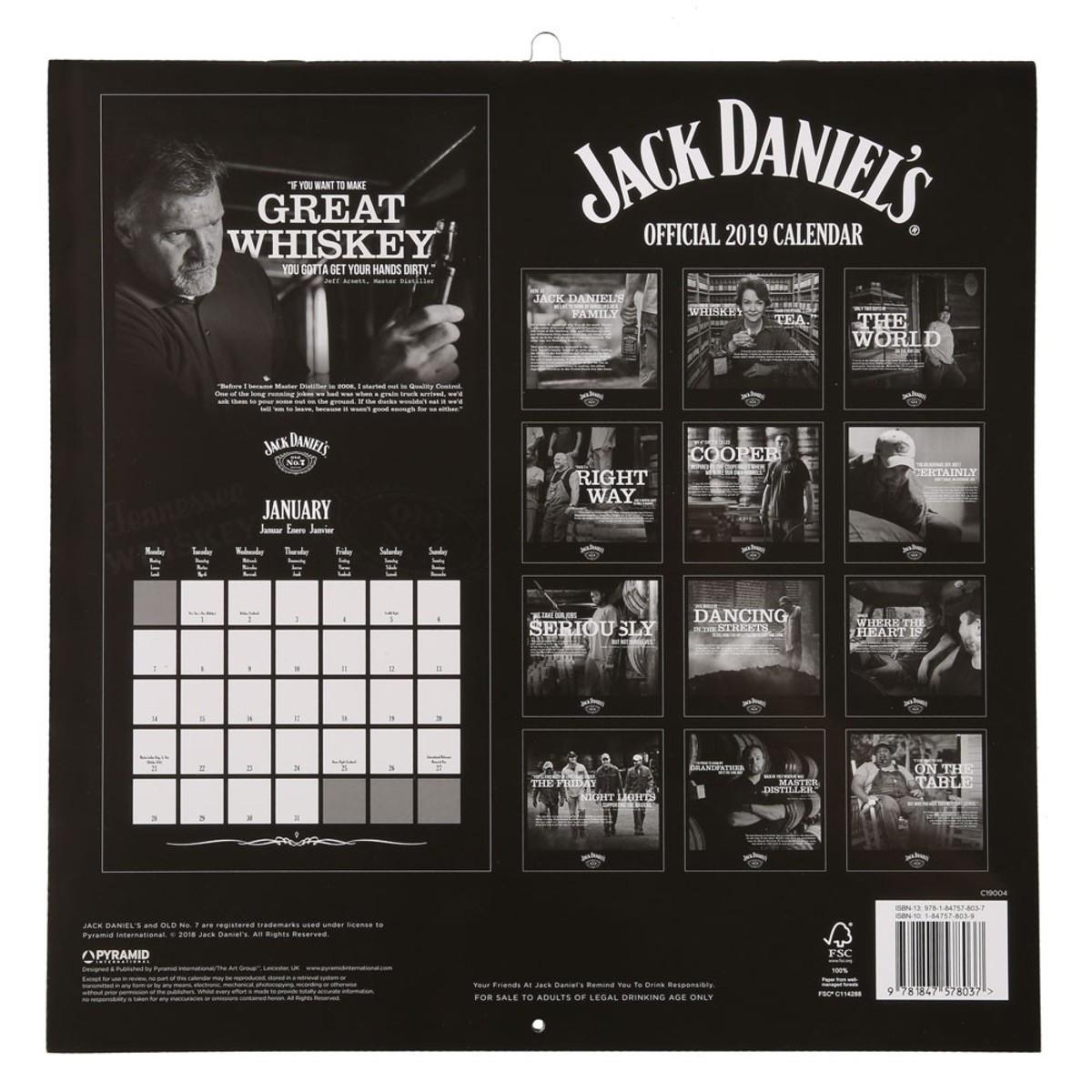 Bild 2 von Jack Daniels Kalender, 2019, 30 x 30 cm