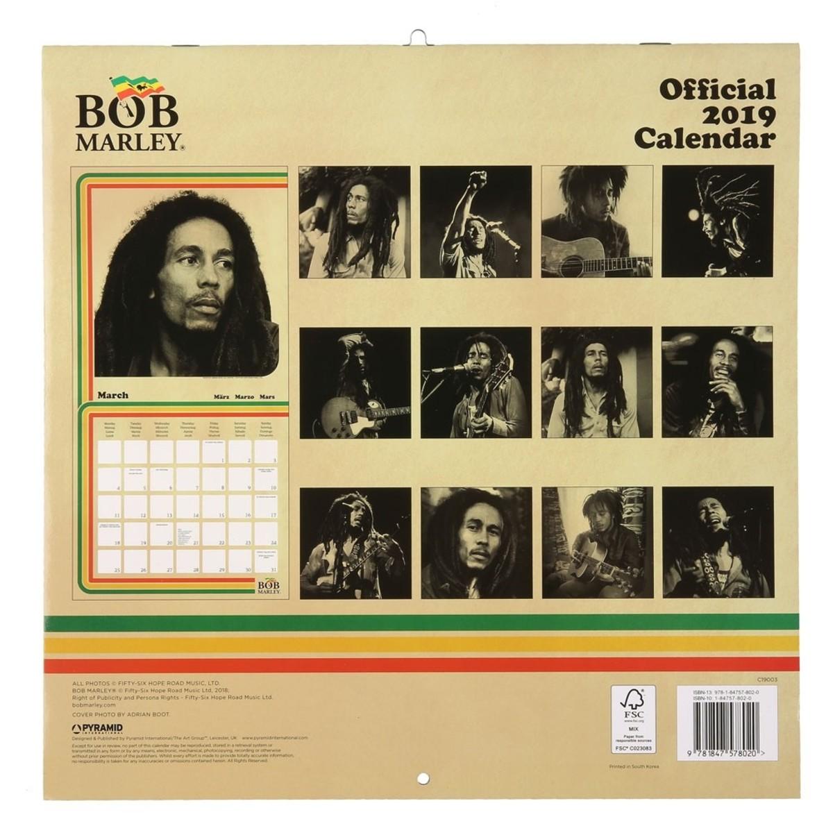 Bild 2 von Kalender Bob Marley, 2019, 30 x 30 cm