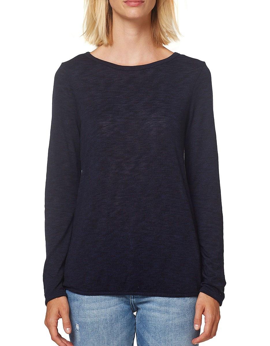 Bild 2 von Esprit - Langarmshirt aus meliertem Slub-Jersey