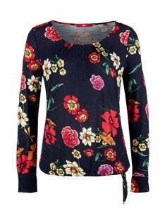 s. Oliver - Langarmshirt im Flower-Design