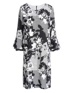 Steilmann - Kleid mit Streifen und Blumen