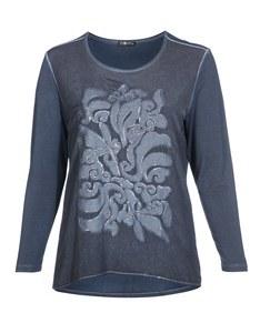 No Secret - Besticktes Shirt mit Rundhals und Langarm