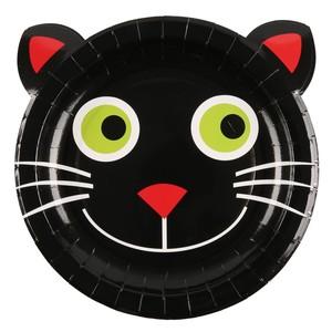 Pappteller, Halloween, Katzenmotiv, 23 cm, 12er-Pack