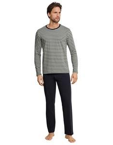 Schiesser - Schlafanzug mit Ringel Langarm