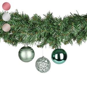Weihnachtskugeln in Baum-Box, grün, 12 Stück