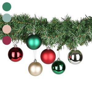 Weihnachtskugeln, große Box, 30 Stück, rot-grün-silber