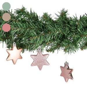 Deko Weihnachtssterne, 6,5 cm, rosa, 6 Stück