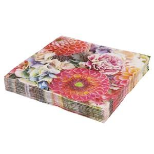 Servietten, Blumenmotiv, 3-lagig, 33 x 33 cm, 20er-Pack
