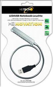 Heitech LED/USB Notebook Leuchte mit 8 LEDs