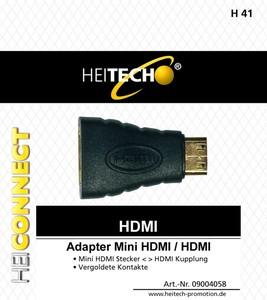 Heitech HDMI-Adapter, Mini-HDMI