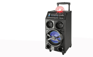 Dual Mobiles BT-Soundsystem Power Trolley mit Discokugel - DSBX 200