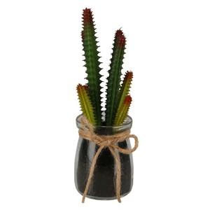 Kunstpflanze, Kaktus, im Glas, 18 cm