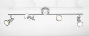 """Prisma LED Wand- und Deckenleuchte """"Chrom Ring"""" - 4-flammig"""