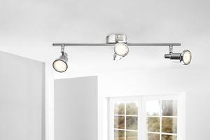 """Prisma LED Wand- und Deckenleuchte """"Chrom Ring"""" - 3-flammig"""