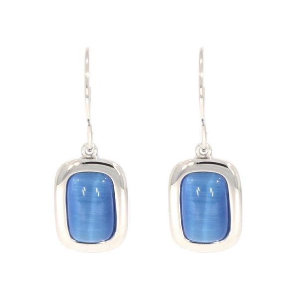 Gooix Ohrhänger mit blauen synthetischen Katzenauge