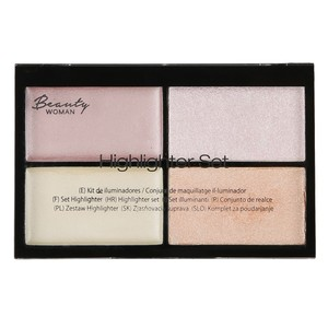 Beauty Woman Highlighter-Set, 4-in-1