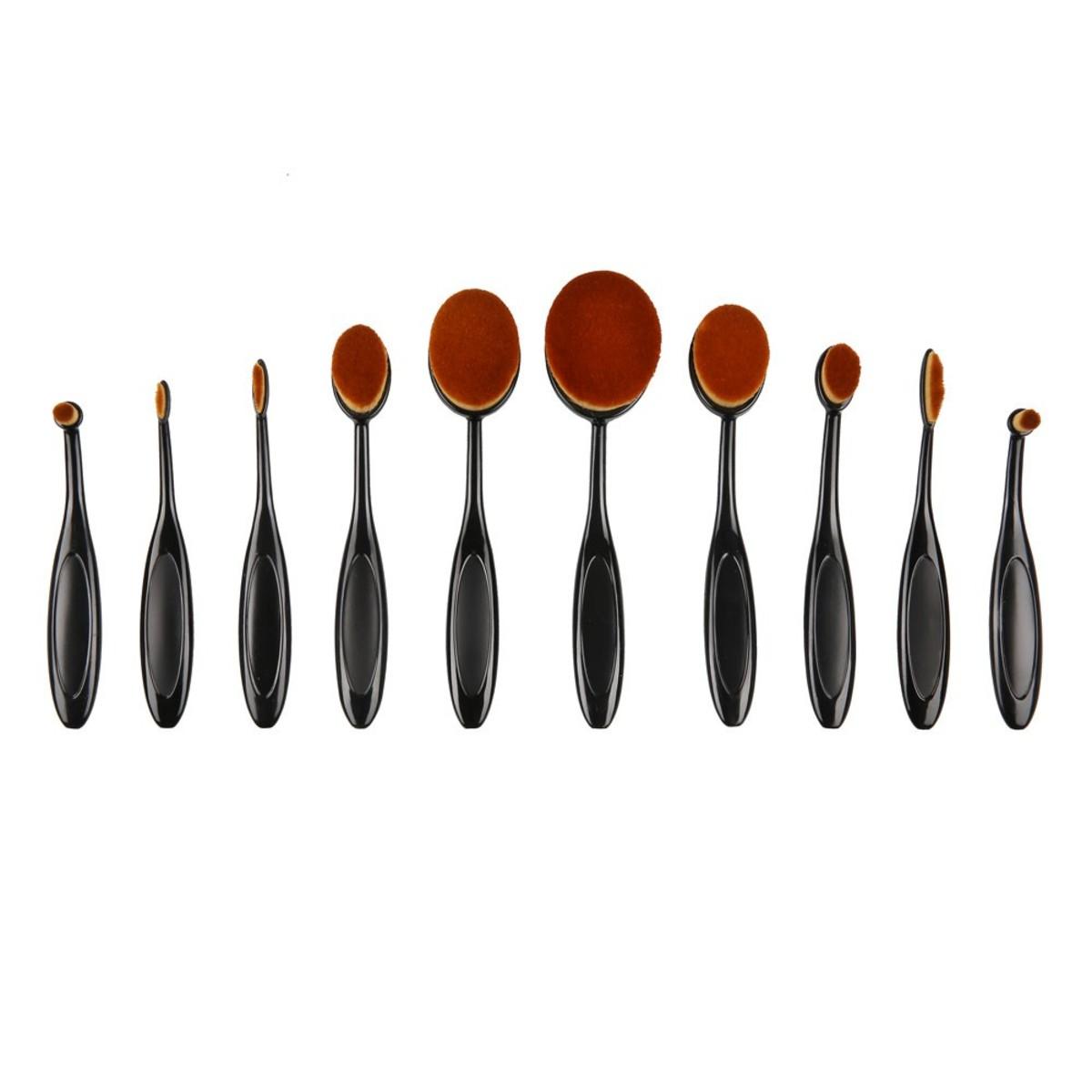 Bild 2 von Make-Up Pinsel oval, 10er-Set