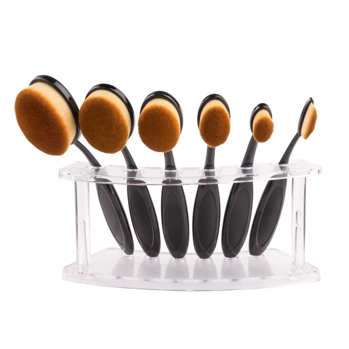 Bild 3 von Make-Up Pinsel oval, 10er-Set