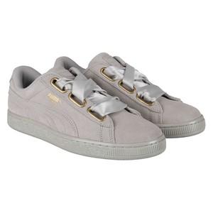 Puma Suede Heart Satin (Damen), Sneaker, grau, 36