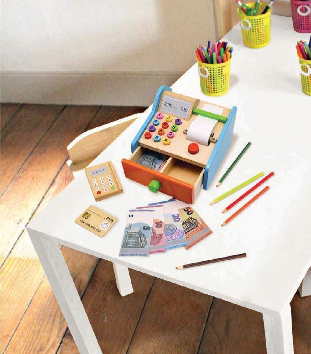 Bild 2 von Coemo Spielkasse aus Holz mit Zubehör