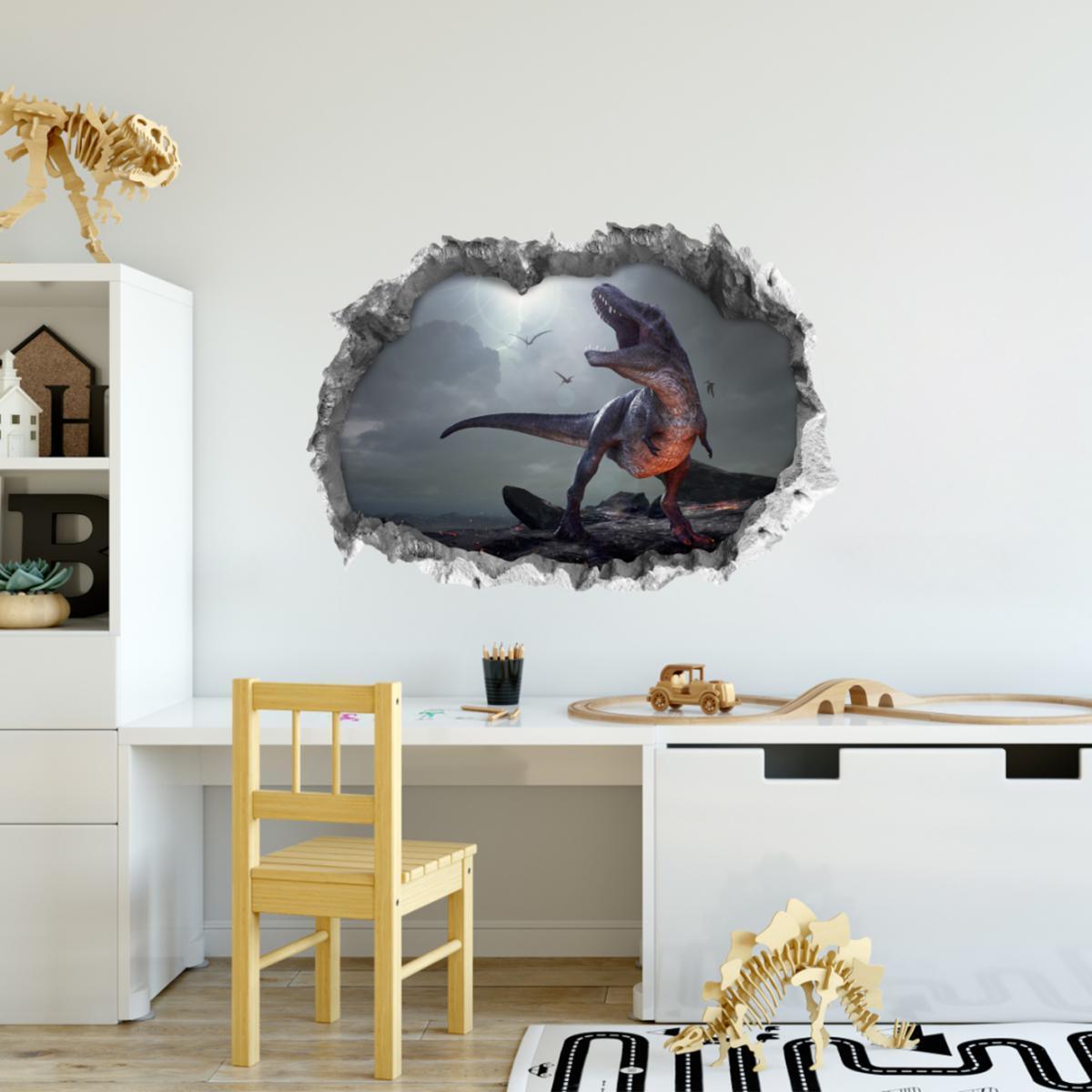 Bild 2 von Wandtattoo 3D T-Rex mehrfarbig