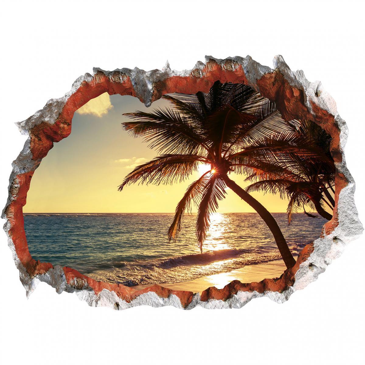Bild 1 von Wandtattoo 3D Strand mehrfarbig