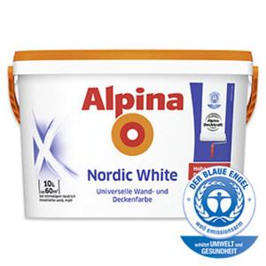 Alpina Nordic White 10 Liter,  Reichweite: ca. 50 - 60 m²